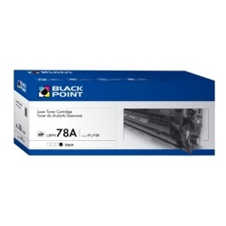 Zgodny z HP CE278A BLACK POINT SUPER PLUS (+24 proc. wyd.) zam. Toner HP LaserJet Pro P1566, P1606, M1536 zamiennik HP CE278A